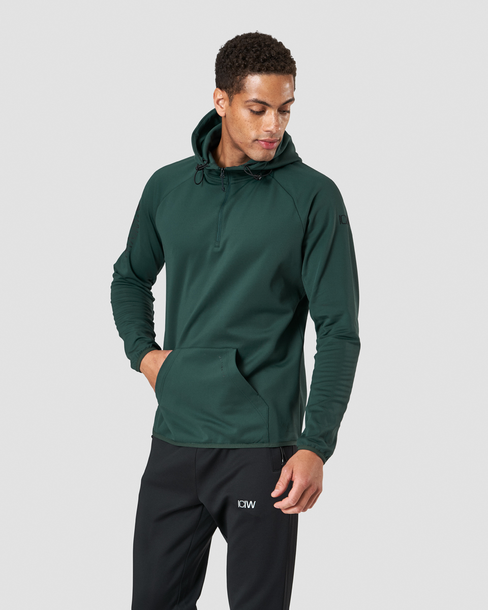 Ultimate Training Zip Hoodie Khaki Green Men