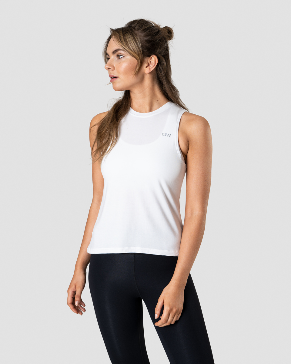 Everyday Loose Tank Top White Wmn
