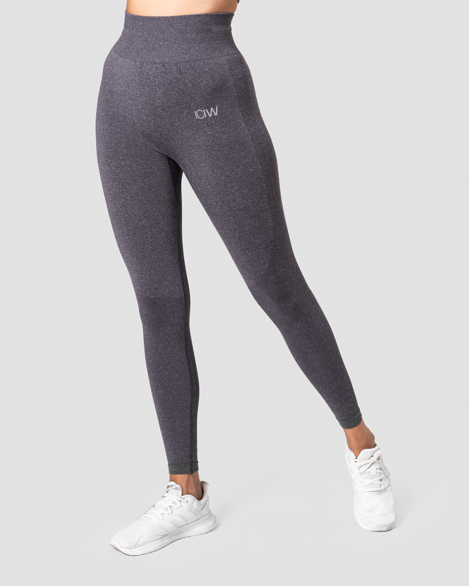 Define Seamless Tights Grey Melange Wmn