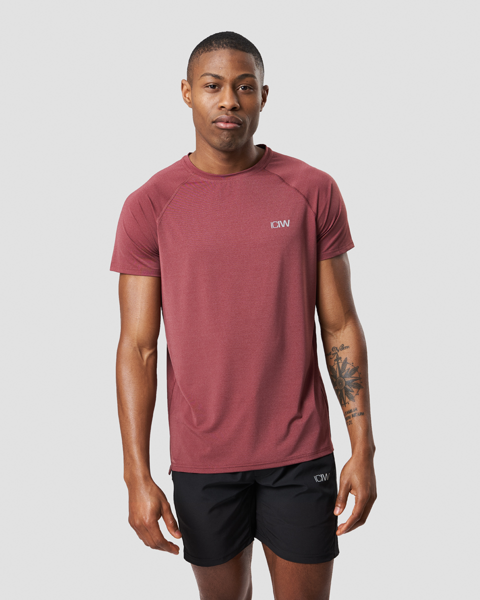 Workout Melange T-shirt Crimson Red Melange Men