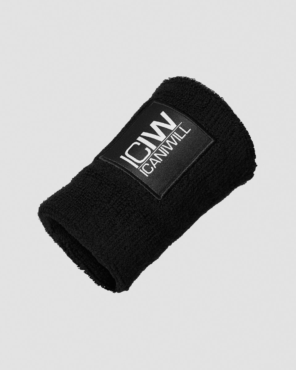 Sweatband patch logo Black - One Size